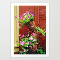 Potted Petunias Art Print