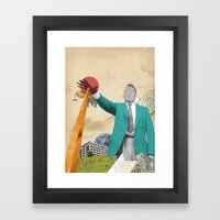 S-OTTO / BELOW Framed Art Print