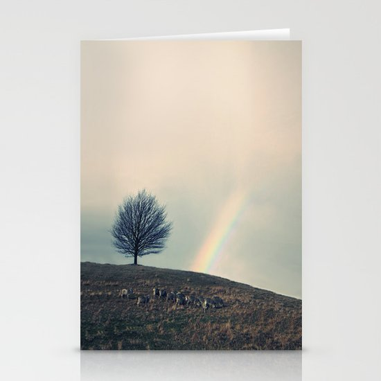 Chasing rainbows and counting sheep. Same thing really. Stationery Card
