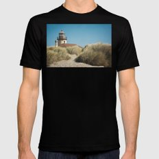 Bandon Lighthouse Mens Fitted Tee Black SMALL