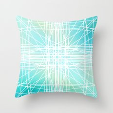 Linear Oceanblast Throw Pillow