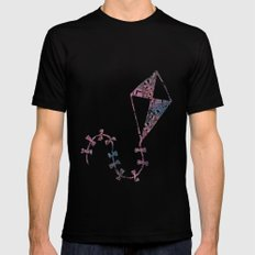 Theta Print-Pastel Mens Fitted Tee Black SMALL