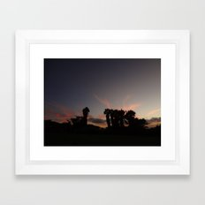 sunset in paradise Framed Art Print