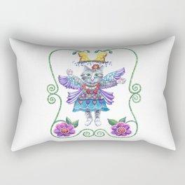 Rectangular Pillow - Angel Kitty - Shelley Ylst Art