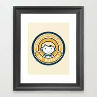 Cute John Watson - Orange Framed Art Print