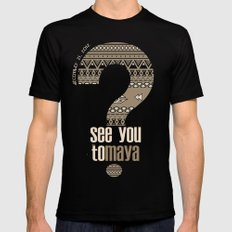 toMAYA Mens Fitted Tee Black SMALL