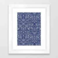 Detailed Floral Pattern … Framed Art Print