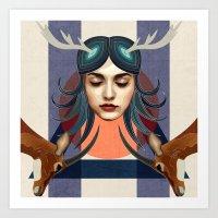 Antelope Girl Art Print