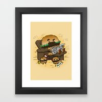 The Dad Burger Framed Art Print