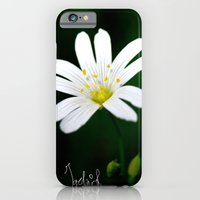 iPhone & iPod Case featuring White Flower by Vincentograph
