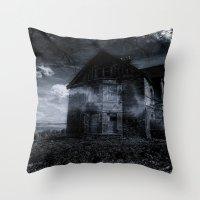 house on the edge Throw Pillow