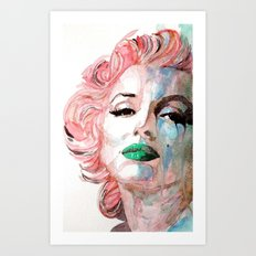 Insecure, Flawed But Beautiful  Marilyn Monroe Art Print