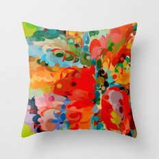 color bubble storm Throw Pillow