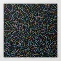 Kerplunk Denim Canvas Print