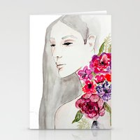 Face&flowers Stationery Cards