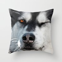The Wink Throw Pillow