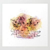 Kittens Are Girl's Best … Art Print