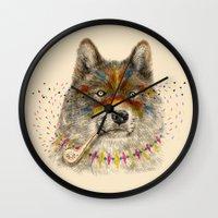 Cherokee Wolf Wall Clock