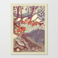 Canvas Print featuring Fisher Fox by Teagan White