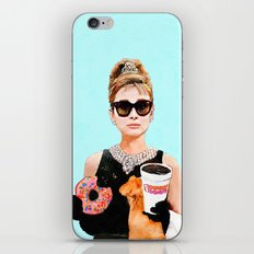 Breakfast at Dunkin Donuts - Audrey Hepburn iPhone & iPod Skin