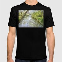 Root River At Racine Mens Fitted Tee Black SMALL