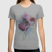 Chubby Bunny Womens Fitted Tee Athletic Grey SMALL