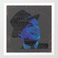Typographic Icons - Fran… Art Print
