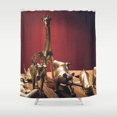 Golden Menagerie Shower Curtain