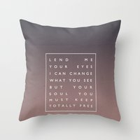 Awake My Soul III Throw Pillow
