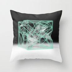 neon cube Throw Pillow