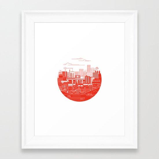 Rebuild Japan Framed Art Print