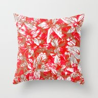 Lovely Leaf Pattern Throw Pillow