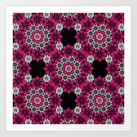 Squiggle Pink Art Print