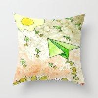 The Life Circulation of the Egg Throw Pillow