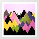 Moutains 3 Art Print
