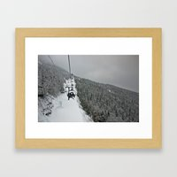 It's A Long Way Up Framed Art Print