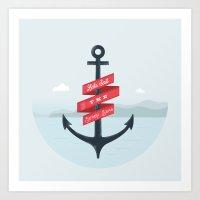 Lets Sail  Art Print