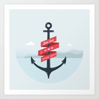 Lets Sail  Art Print