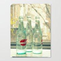 Rainy Day ~ Vintage Soda… Canvas Print