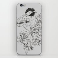 Cole Tit & Roses // Hand… iPhone & iPod Skin