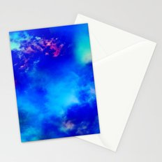 Cosmic Clouds In Dark Blue Stationery Cards