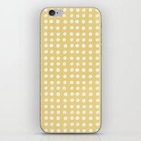 Orange Polka Pattern iPhone & iPod Skin