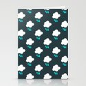 Rain Cloud Pattern Stationery Cards