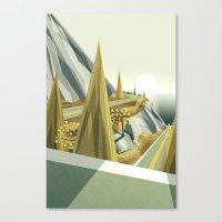 Oceanside mountain road Canvas Print