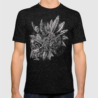 Aztec Great Lizard Warrior 1 (Triceratops) Mens Fitted Tee Tri-Black SMALL