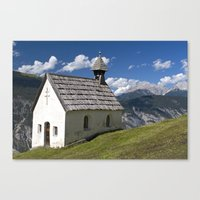 Mountain Chapel - Tirol Canvas Print