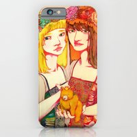 iPhone & iPod Case featuring Snow White and Rose Red by Natsuki Otani