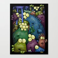 Crowded Aliens Canvas Print