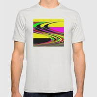 Plasma Mens Fitted Tee Silver SMALL
