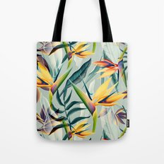 Bird of Paradise Pattern Variant 2 Tote Bag